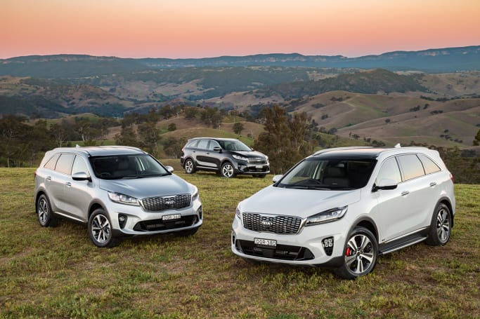 Three colours are available for the 2018 Kia Sorento